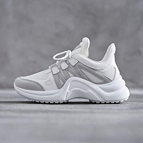 RONGXIE Nieuwe Vrouwelijke Sport Hardloopschoenen Lace Up Walking Platform Lady Ademende Witte Schoenen Wild Dames Sneakers Schoenen