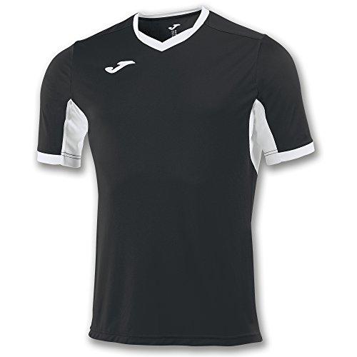 Joma Champion IV M/C Camiseta Equipamiento, Hombre, Negro/Blanco, XL