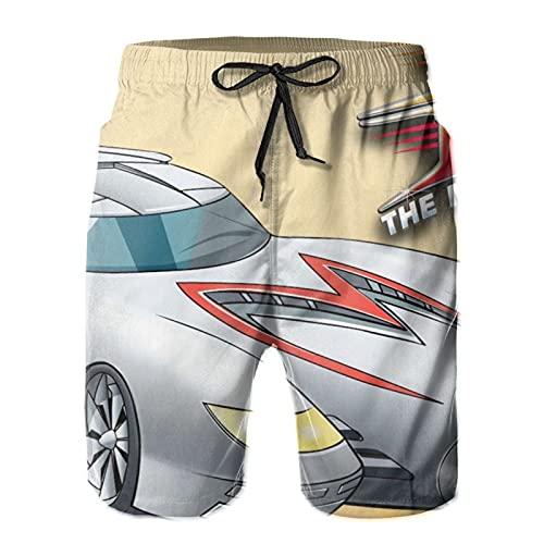 LAOLUCKY Trajes de baño cortos de playa para hombre de traje de baño de la tabla de entrenamiento corto pantalones cortos