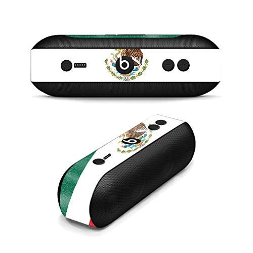 MightySkins Glossy Glitter Skin for Beats Pill Plus - Mexican Flag | Protective, Durable High-Gloss Glitter Finish | Easy to Apply, Remove, and Change Styles | Made in The USA