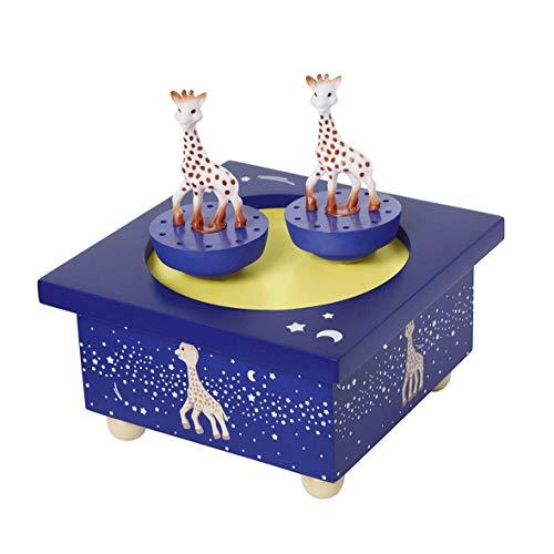 Trousselier - Sophie Die Giraffe - Tanzende Musikbox - Spieluhr - Ideales Geburtsgeschenk - 2 abnehmbare Figuren - Einfache Bedienung - Musik Romeo & Julia - Farbe dunkelblau