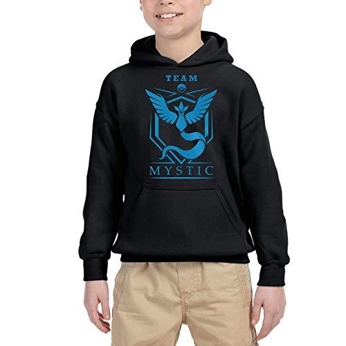 Desconocido Team Poke Mystic - Sudadera niño con Capucha (Negro, 12 años)