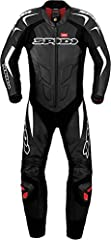 """Spidi """"Supersport Wind Pro"""" 1-Piece Motorcycle Leather Suit (Black/White) Size 44 US / 54 EU Step Up Your Game with Italian Spidi Racing Leathers, Perforated Features 1.2/1.3mm thick full-grain cowhide leather. The Spidi """"Supersport Wind Pro"""" is a su..."""