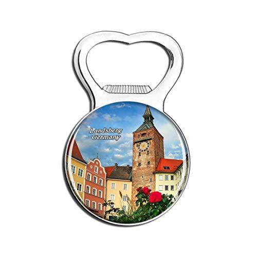 Weekino Landsberg Schmalzturm Deutschland Bier Flaschenöffner Kühlschrank Magnet Metall Souvenir Reise Gift
