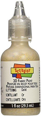 I Love To Create Scribbles 3D Fabric Paint 1oz-Glittering - Gold