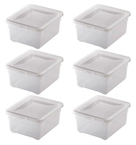 """6x Aufbewahrungsboxen """"Clear Box"""" mit 2 Litern, 19,0 x 16,5 x 9,0 cm - transparent - stapelbar - Kunststoff/Plastik"""
