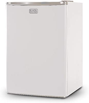 BLACK+DECKER BCRK25W Compact Refrigerator Energy Star Single Door Mini Fridge with Freezer, 2.5 Cubic Ft., White