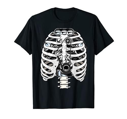 Mechanic Car Engineer Skeleton Mechanics T-Shirt