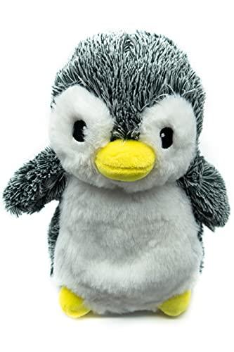 Kuki Peluche Térmico Bebé para Dormir Pingüino 23 cm   Saquito de Semillas extraíble   Peluche de Calor para Microondas   Peluche Suave Abrazable