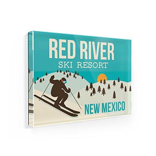 Fridge Magnet Red River Ski Resort - New Mexico Ski Resort - NEONBLOND