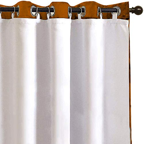 RosieLily Blackout Curtain Liner 2 Panels Blackout Liners for Curtains Blackout Curtain Liners Thermal Curtain Liners Blackout Fabric Included 18 Ring Hooks Size 50 Inch by 80 Inch (50Wx80L)
