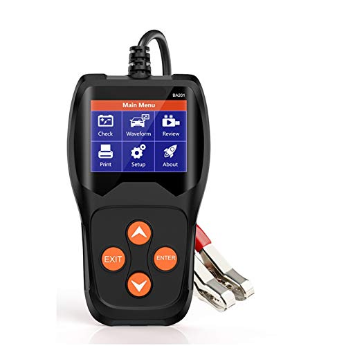 Automotor BA201 12V Tesor de batería para automóvil Analizar 2000CCA Carga de voltaje de carga rápida Carga de carga Diagnóstico de diagnóstico Herramientas de prueba de la batería Herramienta de esca