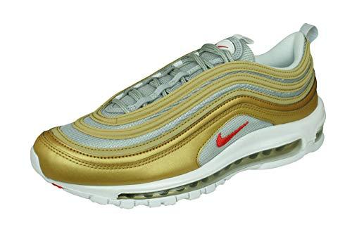 Nike Air MAX 97 SSL Bv0306-700, Zapatillas Hombre, Metallic Gold University Red Metallic Silver, 44 EU
