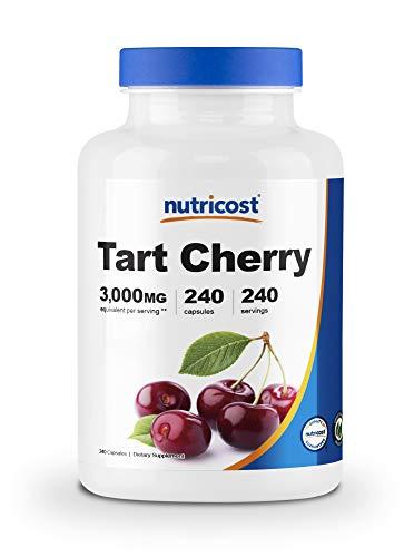 Nutricost Tart Cherry Extract 3000mg 240 Vegetarian Capsules  Gluten Free NonGMO