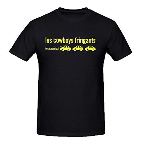Les Cowboys Fringants Break Syndical Black Tee Shirts for Men