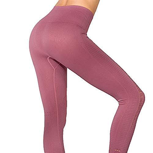 MJXVC Yogahosen,Gamaschen,Eignung Komprimierte, trockene, atmungsaktive Hose - Puder groß