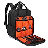 CURMIO Bartender Bag Travel Bartender Kit Backpack with Padded Compartments for Wine and Cocktail Shaker, Portable Carrying Bag for Bar Tools Set, Perfect for Home Indoor Outdoor Patio Party, BAG ONLY - Black (Patented Design)
