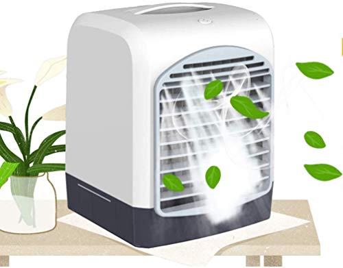 Aire Acondicionado Portátil Escritorio de aire más fresco personal, mini acondicionador de aire, USB portátil de carga de escritorio del refrigerador de aire del ventilador del ventilador de refrigera