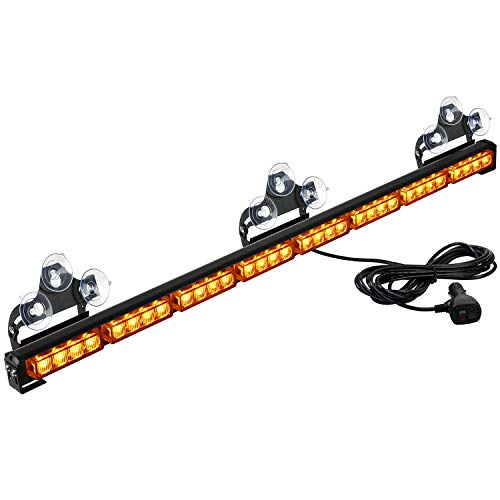 "ASPL 36"" 32LED Traffic Advisor Light Bar Warning Emergency Strobe Light Bar Directional Flashing Emergency Caution Lighting Led Safety Lights With 16 ft Straight Cord (Amber)"