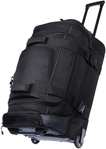 Amazon Basics - Mochila con ruedas de ripstop, 66 cm, 64.4 litros - Negro