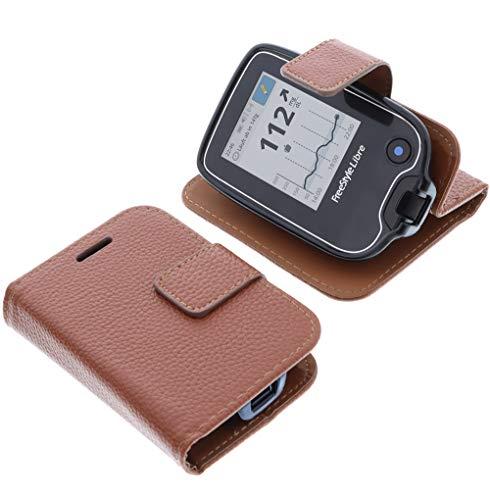 foto-kontor Bolsa para Abbott Freestyle Libre 1 Book Style protección marrón de...