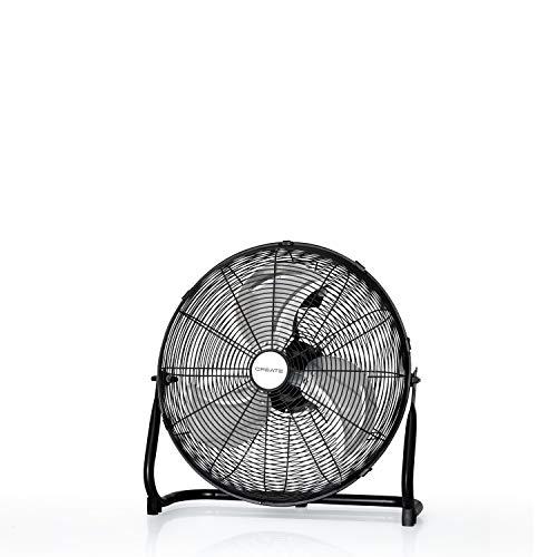 IKOHS EOLUS Turbo Pro - Ventilador de Suelo Industrial, 120 W, Potente Flujo de Aire, Ligero, Ajustable, con Patas Antideslizantes, 3 hélices, 3 velocidades, Motor Cobre (Negro - 20