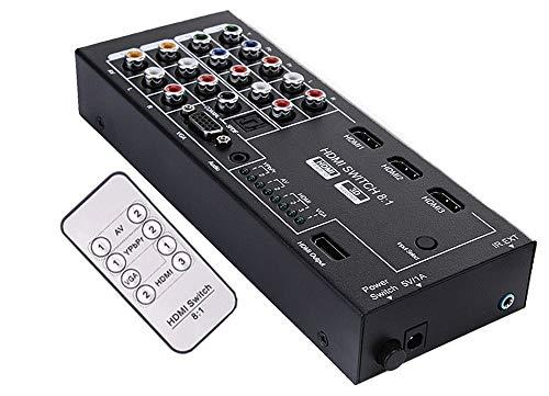 Multi-Input HDMI VGA Component YPbPr Composite RCA A/V to 1080p HDMI Converter Switcher