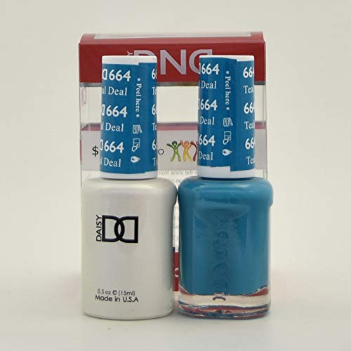 DND Daisy Soak Off Gel Polish + Matching Nail Polish Duo 664 Teal Deal