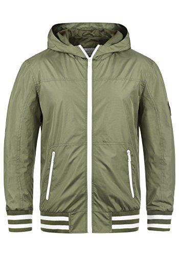 Blend Novan Herren Übergangsjacke Herrenjacke Jacke mit Kapuze, Größe:L, Farbe:Dusty Olive Green (77203)