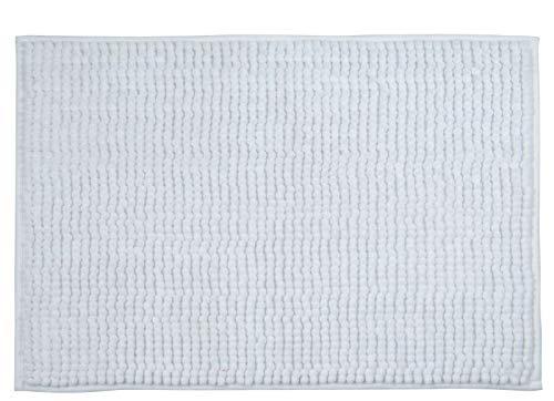 MSV Tapis de Bain, Blanc, Microfibre,40 x 60 cm