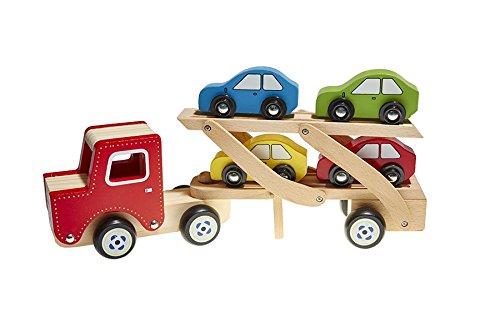 Juguetutto - Camión Transporta coches - ROJO - Juguete de madera