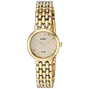 Fashion Shopping Seiko Women's Ladies Dress Japanese-Quartz Watch with Stainless-Steel Strap,