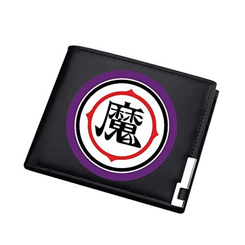 Dragon Ball Tarjeta de Almacenamiento Conveniente Estudiante Bolsa Portable de la Carpeta de Plegado en Dos Cuero Impreso Monedero Hombres (Color : A19, Size : 12 X 10 X 1.5cm)