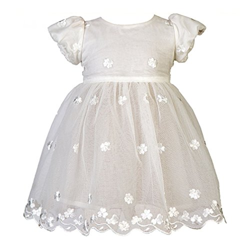 MMdadak Taufkleid Babykleid Celebration Festliches Kleid Nr. 26 weiß Ivory Off White (80)