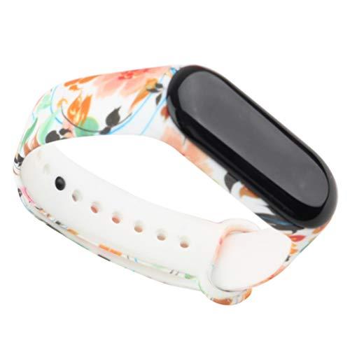 UKCOCO Schützender Ersatz Cooles, stilvolles Ersatz-Armband aus Silikon für das Xiaomi 3 Smart-Armband