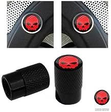 Billion_Store Brembo Brake Caliper Inserts & Logo Valve Caps for Harley Touring Red Skull G Cool Tuning