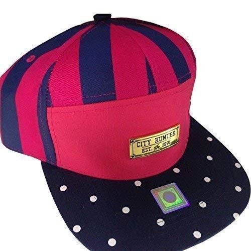 City Hunter Pois 7Panneau Casquette Bouchons, Peak Rétro arrière plat Sangle de baseball chapeaux - Multicolore - Taille unique