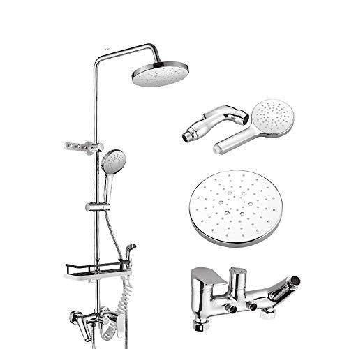 DJY-JY Juego de ducha de baño completo, grifo de ducha de pared con cabezal de ducha de mano fijo, kits de ducha para baño