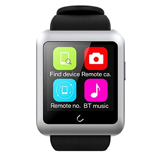 Kolylong® smartwatch Sport U11 Bluetooth 4.0 Smart Sport Armbanduhr für iPhone (Silber)