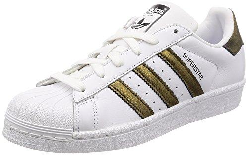 adidas Women's Superstar W Gymnastics Shoes, Black (FTWR White/Core Black/Core Black), 3.5 UK