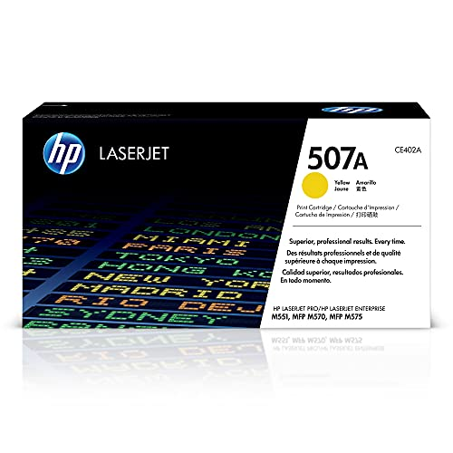 HP 507A | CE402A | Toner-Cartridge | Yellow | Works with HP LaserJet Enterprise 500, 551, 570 series