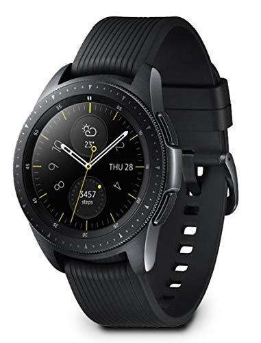 Samsung Galaxy Watch, Runde Bluetooth Smartwatch Für Android, drehbare Lünette, Fitness-tracker, 42mm, ausdauernder Akku, LTE, Schwarz (Deutche Version)