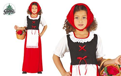Disfraz de pastorcita roja infantil 3-4 años