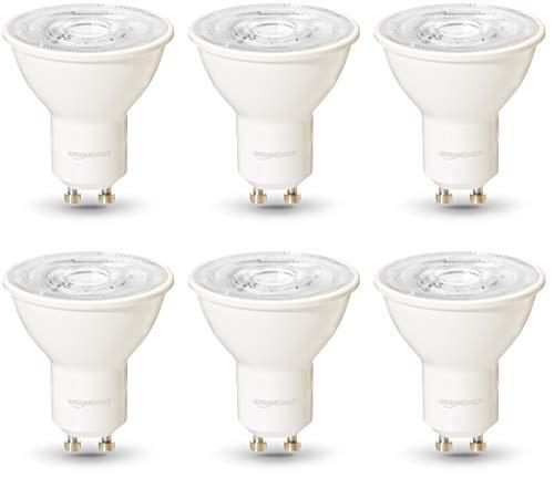 AmazonBasics Professional - LED-Leuchtmittel, GU10-Spot, entspricht 35-Watt-Birne, Warmweiß, dimmbar, 6 Stück