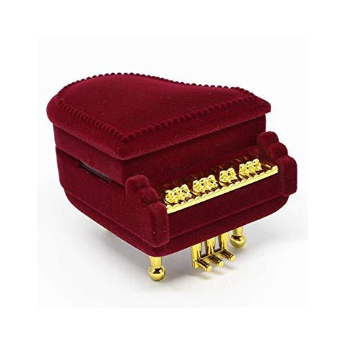 GYDSSH 1 Pieza de joyería del Terciopelo de Piano única Boda de la Caja del Anillo Caja de Regalo del sostenedor Jewellry Wrap for la Pulsera de los Pendientes del Collar de visualización