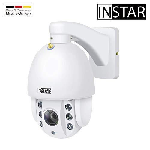 INSTAR IN-9010 Full HD Weiss - wetterfeste Überwachungskamera – LAN - WLAN IP Kamera - Aussen - Außenkamera - PTZ – 4X Zoom - steuerbar - Nachtsicht - ONVIF - Alarm Eingang - Audio - RTSP - Mikrofon
