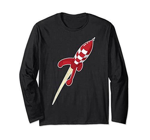 Tim & Struppi Rakete (Rot) Langarmshirt