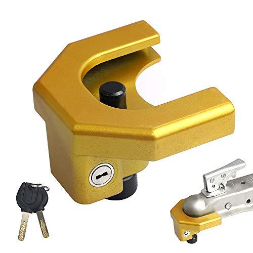 Kairay Universal-Anhängerkupplungsschloss für Anhängerkupplungen von 4,76 - 5,87 cm, 2 Schlüssel
