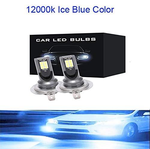 2 unids Mini H4 H7 LED CARIR LUGARIO FOG KIT 6000K 3000K 8000K 72W 12000LM H1 H1 H11 9005 HB3 H8 H9 12000k Bulbos ACCESORIOS DE COCHES (Emitting Color : 12000K Ice Blue, Socket Type : 9006)