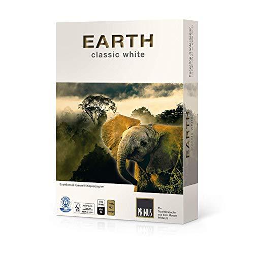 500 Blatt Recycling Kopierpapier DIN A4 80g / qm ISO 70 Blauer Engel & FSC®-zertifiziert PRIMUS EARTH classic Druckerpapier Papier Laserpapier Universalpapier